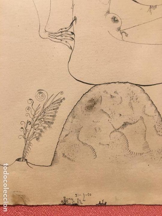 Arte: Joan ponç tinta Dau al set, etiqueta museo prado - Foto 8 - 104214947