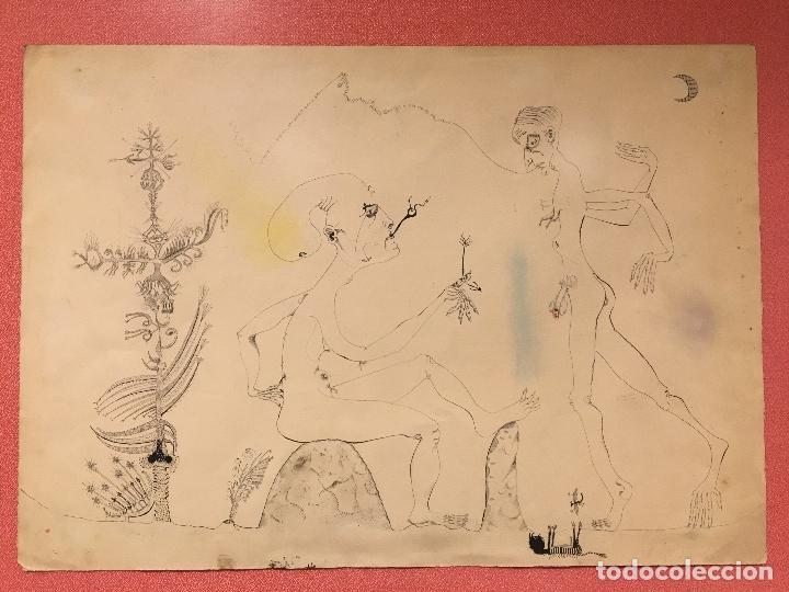 Arte: Joan ponç tinta Dau al set, etiqueta museo prado - Foto 10 - 104214947