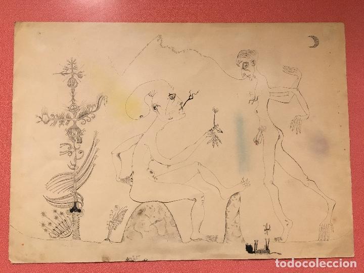 Arte: Joan ponç tinta Dau al set, etiqueta museo prado - Foto 13 - 104214947