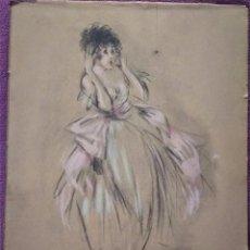Arte: LITOGRAFIA ICARTS STUDIO PASTEL ADD, TIRADA DE 380 LIMITADA 1927. Lote 104397331