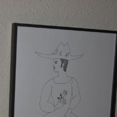 Arte: JORDI SARRÁ - DIBUJO ORIGINAL - CHICO CON ROSA - 1978 - PINTURA CATALANA. Lote 104554399