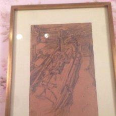 Arte: GIMENO ARASA, FRANCISCO (TORTOSA, TARRAGONA, 1858-BARCELONA, 1927) , DIBUJO AL CARBON, FIRMADO.. Lote 104597115