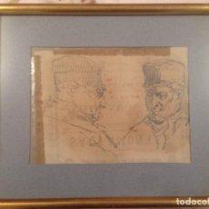 Arte: GIMENO ARASA, FRANCISCO(TORTOSA, TARRAGONA, 1858-BARCELONA, 1927). , DIBUJO AL CARBON.. Lote 104597615