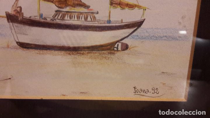 Arte: BONITA BARCA DE PESCA. ORIGINAL FIRMADO / JOANA-92. PASPARTOUT / MEDIDA TOTAL 26 X 21 CM. - Foto 4 - 104718419