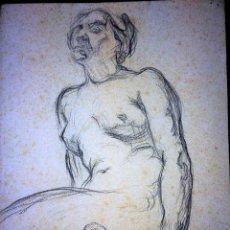 Arte: DESNUDO FEMENINO. CARBONCILLO SOBRE PAPEL. ANÓNIMO. ESPAÑA. SIGLO XIX. Lote 104790259