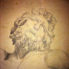 Arte: 17 DIBUJOS. GRAFITO Y CARBONCILLO SOBRE PAPEL. DIVERSOS AUTORES. ESPAÑA. XIX-XX. Lote 104865879