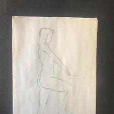 Arte: DIBUJO A LÁPIZ, APUNTES, DESNUDOS FEMENINOS, ANÓNIMO 7 DIBUJOS. . Lote 104877471