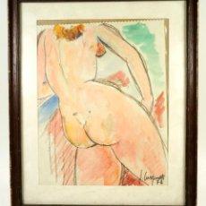 Arte: J. TUSQUETS, DIBUJO CUERPO MUJER, 1972, TAMAÑO MARCO 34X41CM. Lote 105242419