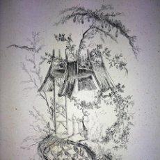 Arte: LOTE DE 22 DIBUJOS. DIVERSAS TÉCNICAS. DIVERSOS AUTORES. ESPAÑA. XVIII-XIX. Lote 105257799