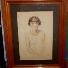 Arte: JOAQUIM SUNYER (SITGES, 1874 - 1956) TECNICA MIXTA SOBRE PAPEL. RETRATO NOUCENTISTA. Lote 105642007