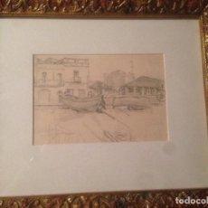 Arte: JOSÉ SIMONT GUILLEN (1875-1968), DIBUJO DEL PUERTO DE ARENYS. Lote 105839295
