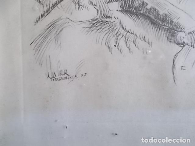 Arte: EXCELENTE DIBUJO TEMA QUIJOTESCO / FIRMADO 35X43 - Foto 2 - 105918827