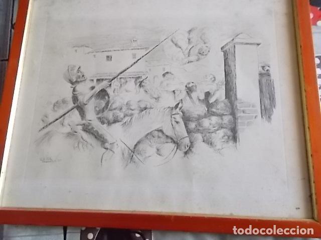 Arte: EXCELENTE DIBUJO TEMA QUIJOTESCO / FIRMADO 35X43 - Foto 5 - 105918827