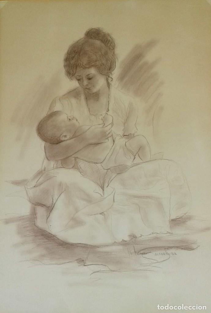 SALVADO ALTARRIBA PINTOR NACIDO EN CABRIANES (SALLENT) EN 1935. EN 1959 SE TRASLADÓ A SABADELL (Arte - Dibujos - Contemporáneos siglo XX)