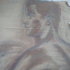 Arte: ANTIGUO DIBUJO .. CARBONCILLO AÑOS 60'70 MEDIDA 57POR 46. Lote 106089163