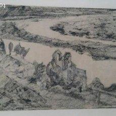 Arte: GIMENO ARASA, FRANCISCO (1858-1927), DIBUJO AL CARBON. 22X33CMS. Lote 106089975