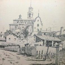 Arte - Dibujo a pluma con paisaje del acuarelista y dibujante catalán Francesc Diumenge i Gay (1930-2017) - 106652071