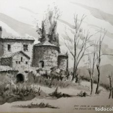 Arte: DIBUJO A PLUMA Y AGUADA DEL ACUARELISTA Y DIBUJANTE CATALÁN FRANCESC SANDIUMENGE I GAI BCN 1930-2017. Lote 106654815