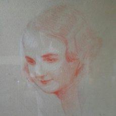 Arte: PINTURA CARBONCILLO ROJO LAPIZ A. BONNET. Lote 106580907