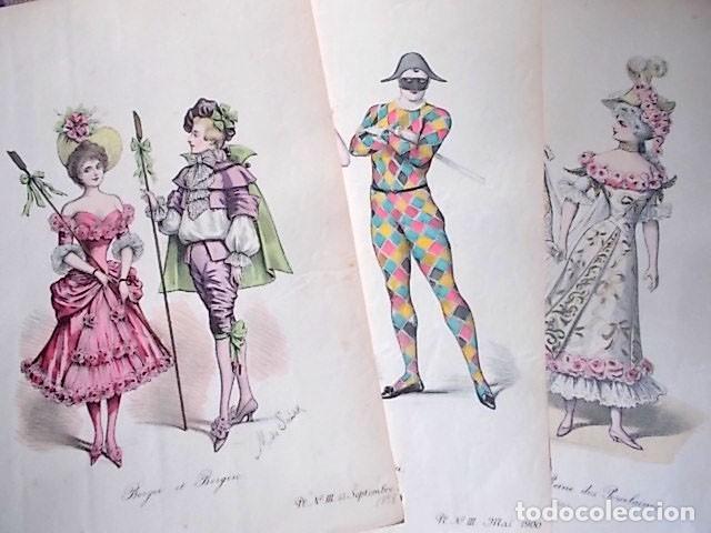 18 Litografias Dibujos La Coiffure Parisienne I Comprar Dibujos