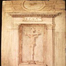 Arte: PROYECTO DE CAPILLA FIRMADO H.B. Y FECHADO EN 1693. Lote 106941519