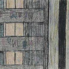 Arte: PHILIP STANTON (COLUMBUS, ESTADOS UNIDOS 1962) DIBUJO A LAS CERAS VISTA EDIFICIO FIRMADO. Lote 106955279