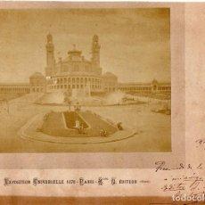 Arte: AUTOGRAFO ORIGINAL DEL DIBUJANTE Y ESCRITOR APELES MESTRES,EN FOTOGRAFIA EXPOSICION PARIS AÑO 1878. Lote 107022855