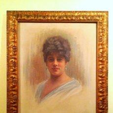 Arte: CUADRO ORIGINAL DEL PINTOR LUÍ MARTÍ GRAS PINTOR CATALÁN BARCELONA 1887- 1961 MAESTRO DEL RETRATO. Lote 107081019
