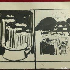 Arte: DIBUJO DE JORDI CURÓS VENTURA (OLOT 1930-2017). Lote 107130455
