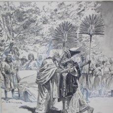Arte: DIBUJO FRANZ GAILLIARD // DRAWING FRANZ GAILLIARD BELGICA 1861. Lote 107242291