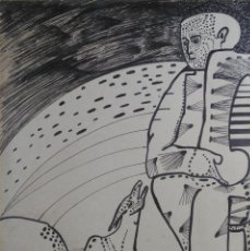 Arte: JOAN BROTAT. TINTA SOBRE PAPEL. FIRMADO. Lote 107252875