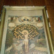 Arte: LÁMINA RELIGIOSA CON MARCO DEL XVIII. Lote 107325996