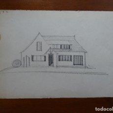 Arte - Dibujo lápiz original 35 x 28 aprox arquitectura - 107731627