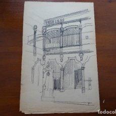 Arte - Dibujo lápiz original 35 x 28 aprox arquitectura - 107732419