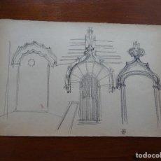 Arte - Dibujo lápiz original 35 x 28 aprox arquitectura - 107732623