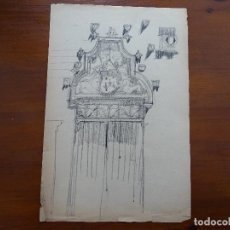 Arte - Dibujo lápiz original 35 x 28 aprox arquitectura - 107732679