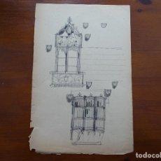 Arte - Dibujo lápiz original 35 x 28 aprox arquitectura - 107732695