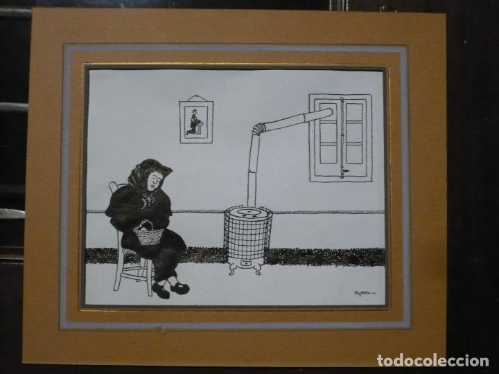 DIBUJO A LA PLUMA PARA ILUSTRACIÓN DE APA, FELIU ELIAS. ORIGINAL FIRMADO SIN MARCO (Arte - Dibujos - Contemporáneos siglo XX)