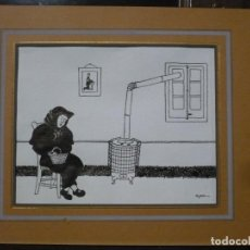 Arte: DIBUJO A LA PLUMA PARA ILUSTRACIÓN DE APA, FELIU ELIAS. ORIGINAL FIRMADO SIN MARCO. Lote 107781395