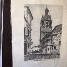 Arte: IGLESIA MAYOR DE RONDA. DIBUJO. JOSÉ MARÍA RODRIGO. Lote 107783331