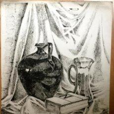 Arte: DIBUJO A PLUMILLA DEL ACUARELISTA Y DIBUJANTE CATALÁN FRANCESC SANDIUMENGE I GAY. Lote 107839647