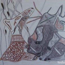 Arte: FJ CASTILLO. MÁLAGA 1961 DIBUJO TÉCNICA MIXTA DE 29,5 41,5 PAPEL ENMARCADO EN 38X49. OBRA ÚNICA.. Lote 107977359