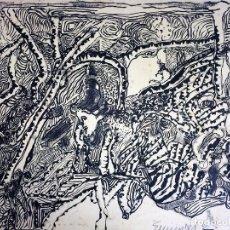 Arte: COMPOSICIÓN ABSTRACTA. DIBUJO. TINTA SOBRE PAPEL. FIRMADO. ESPAÑA. SIGLO XX. Lote 107988335