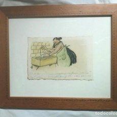 Arte - Dibujo tinta Gaieta Cornet i Palau 1878 1945, Leyenda a pie viñeta, escrita a mano por el autor - 108011627