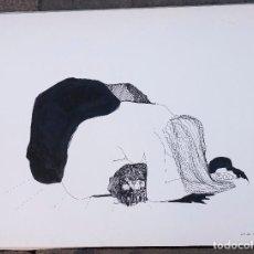 Arte: ELENA PAREDES, DIBUJO MUJER, 1970. 63X47,5M. Lote 108236455