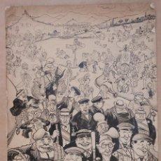 Arte: DIBUJO DE PICAROL, JOSEP COSTA FERRER (1876-1971). 50X35CM. Lote 108428191