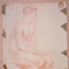 Arte: DIBUJO DESNUDO, MARTÍ CASADEVALL, 1916, ESCOLA D'OLOT. 49X33CM. Lote 108428835