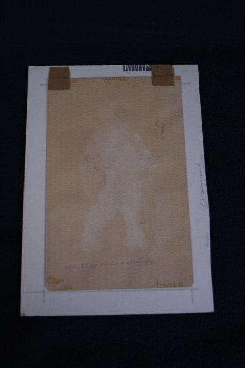 Arte: JOSEP CAÑAS, EXTRAORDINARIA OBRA , ACUARELA Y CARBONCILLO. PERCONAJE VASCO - Foto 4 - 108723091