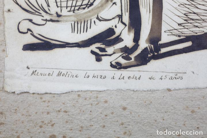 Arte: MANUEL MOLINÉ, DIBUJO SATÍRICO DEL AÑO 1880 PARA LA CAMPANA DE GRACIA / ESQUELLA TORRATXA. - Foto 3 - 108865991