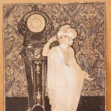 Arte: FRANCESC LABARTA I PLANAS (1883 - 1963) DIBUJO TINTA SOBE PAPEL 1920 APROX. MUJER. 22X30,5CM. Lote 108867255